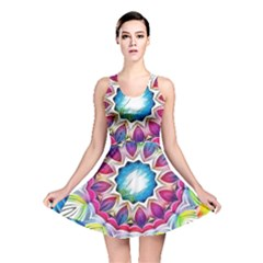 Sunshine Feeling Mandala Reversible Skater Dress