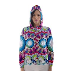 Sunshine Feeling Mandala Hooded Wind Breaker (women)