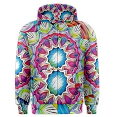 Sunshine Feeling Mandala Men s Zipper Hoodie