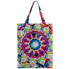 Sunshine Feeling Mandala Zipper Classic Tote Bag