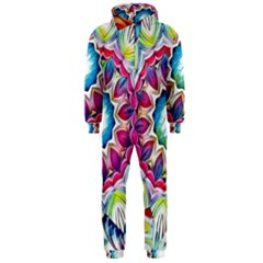 Sunshine Feeling Mandala Hooded Jumpsuit (men)
