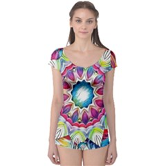 Sunshine Feeling Mandala Boyleg Leotard