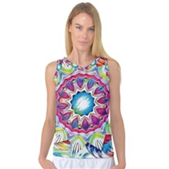 Sunshine Feeling Mandala Women s Basketball Tank Top