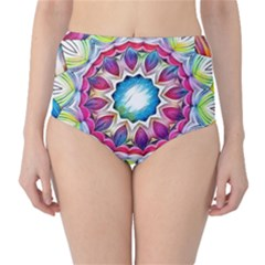 Sunshine Feeling Mandala High Waist Bikini Bottoms