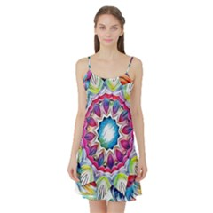 Sunshine Feeling Mandala Satin Night Slip