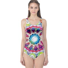 Sunshine Feeling Mandala One Piece Swimsuit