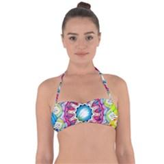 Sunshine Feeling Mandala Halter Bandeau Bikini Top