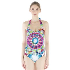 Sunshine Feeling Mandala Halter Swimsuit