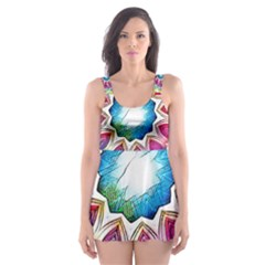 Sunshine Feeling Mandala Skater Dress Swimsuit
