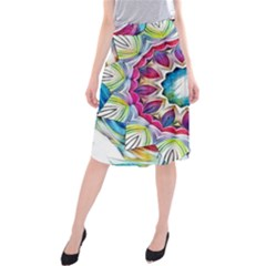 Sunshine Feeling Mandala Midi Beach Skirt
