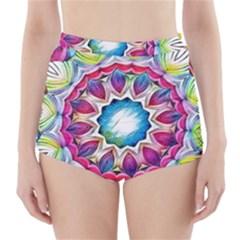 Sunshine Feeling Mandala High Waisted Bikini Bottoms