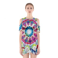 Sunshine Feeling Mandala Shoulder Cutout One Piece