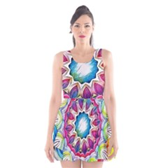 Sunshine Feeling Mandala Scoop Neck Skater Dress