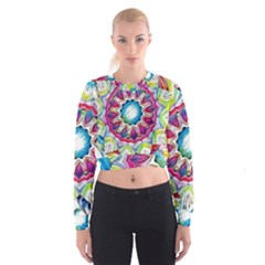 Sunshine Feeling Mandala Cropped Sweatshirt