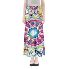Sunshine Feeling Mandala Full Length Maxi Skirt