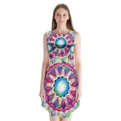 Sunshine Feeling Mandala Sleeveless Chiffon Dress