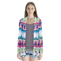 Sunshine Feeling Mandala Drape Collar Cardigan