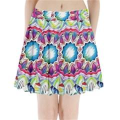 Sunshine Feeling Mandala Pleated Mini Skirt