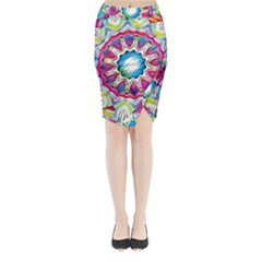 Sunshine Feeling Mandala Midi Wrap Pencil Skirt