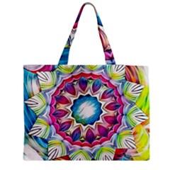 Sunshine Feeling Mandala Zipper Medium Tote Bag