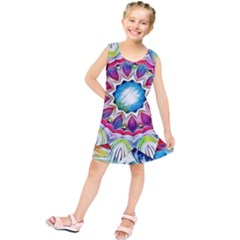 Sunshine Feeling Mandala Kids  Tunic Dress