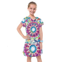 Sunshine Feeling Mandala Kids  Drop Waist Dress