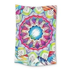 Sunshine Feeling Mandala Small Tapestry