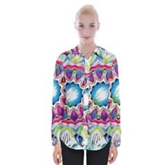 Sunshine Feeling Mandala Womens Long Sleeve Shirt