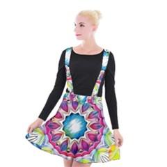 Sunshine Feeling Mandala Suspender Skater Skirt
