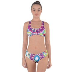 Sunshine Feeling Mandala Criss Cross Bikini Set