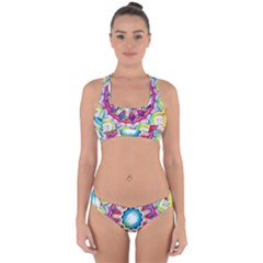 Sunshine Feeling Mandala Cross Back Hipster Bikini Set