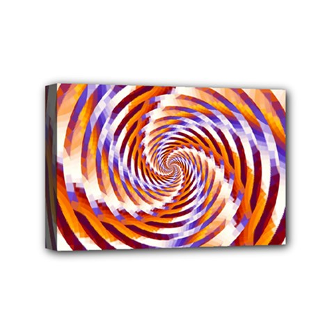 Woven Colorful Waves Mini Canvas 6  X 4