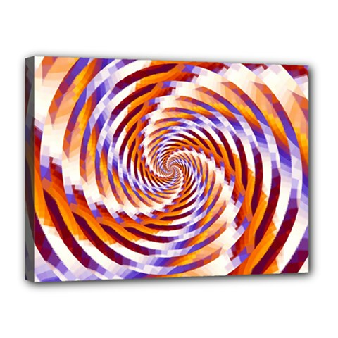 Woven Colorful Waves Canvas 16  X 12