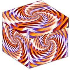 Woven Colorful Waves Storage Stool 12