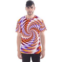 Woven Colorful Waves Men s Sports Mesh Tee