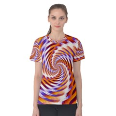 Woven Colorful Waves Women s Cotton Tee
