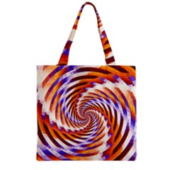 Woven Colorful Waves Grocery Tote Bag