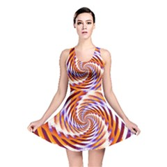 Woven Colorful Waves Reversible Skater Dress