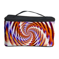 Woven Colorful Waves Cosmetic Storage Case