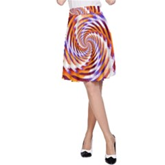 Woven Colorful Waves A Line Skirt