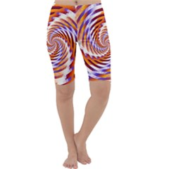 Woven Colorful Waves Cropped Leggings