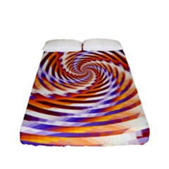 Woven Colorful Waves Fitted Sheet (full/ Double Size)