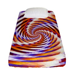 Woven Colorful Waves Fitted Sheet (single Size)
