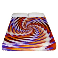 Woven Colorful Waves Fitted Sheet (queen Size)