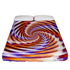 Woven Colorful Waves Fitted Sheet (king Size)