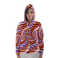 Woven Colorful Waves Hooded Wind Breaker (women)