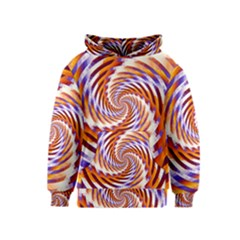 Woven Colorful Waves Kids  Pullover Hoodie