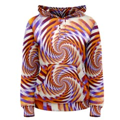 Woven Colorful Waves Women s Pullover Hoodie