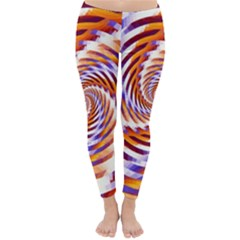 Woven Colorful Waves Classic Winter Leggings