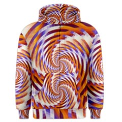 Woven Colorful Waves Men s Zipper Hoodie